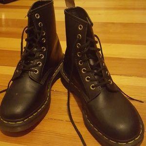 Doc Martens black vegan combat boots